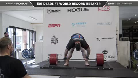 THOR BREAKS THE DEADLIFT WORLD RECORD! 501KG/1104 LBS PogU