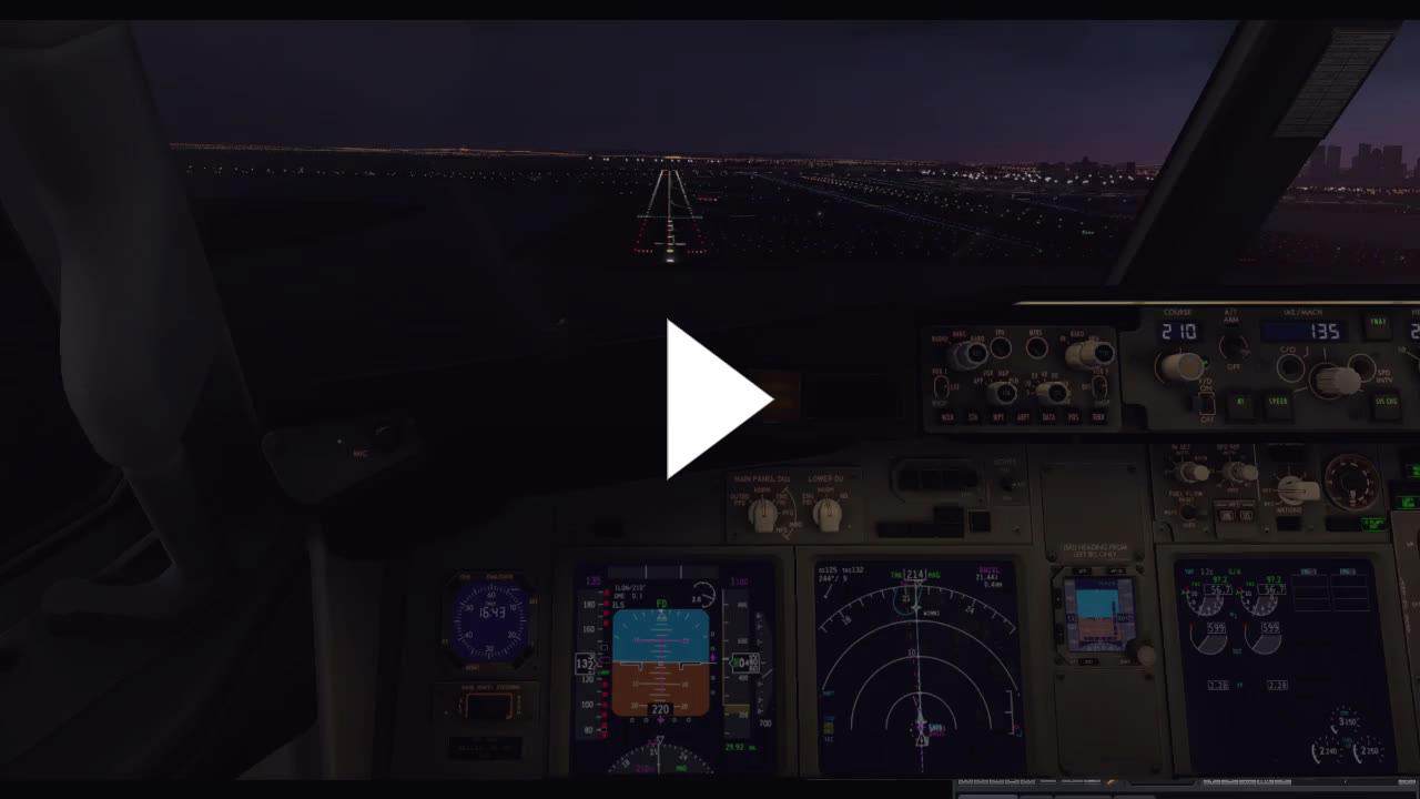 XP11 737-800 Zibo, F, RG Mod, Terrain Radar  Landing  - Twitch
