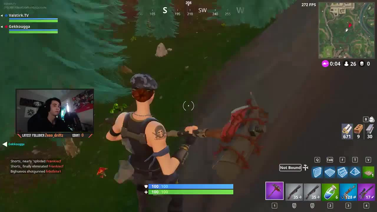 i was accused of stream sniping ninja today in my first match of the day i would never do such a thing my pov of fight in comments fortnitebr - fortnite stream sniping meaning