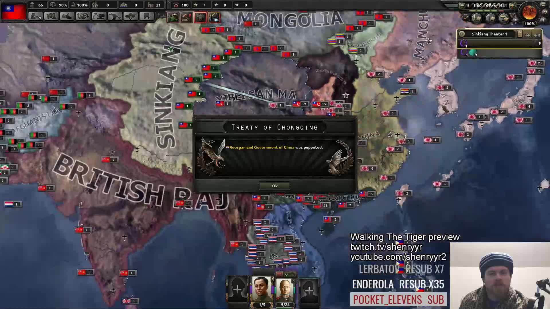 Waking the tiger might have a few bugs   : hoi4
