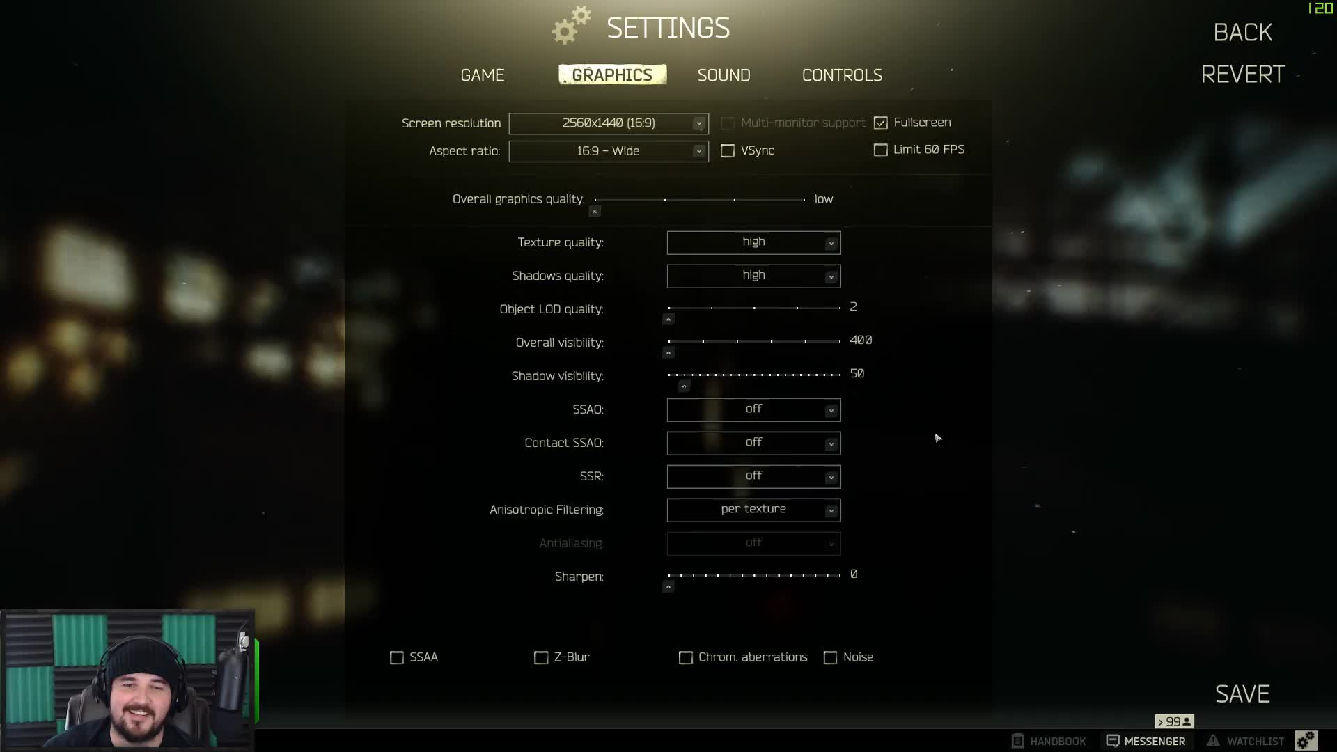 Kottons EFT Settings - Twitch