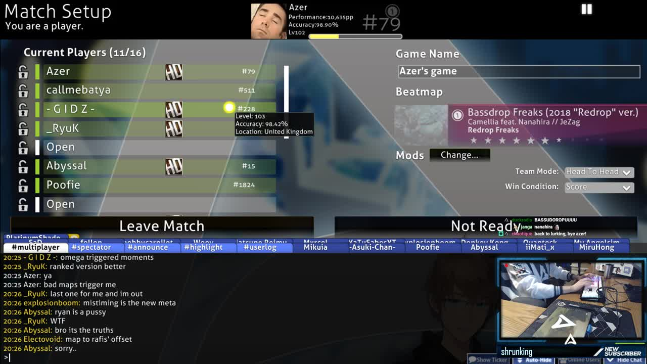 Rafis' skin has delayed hitsounds which is why he uses -25
