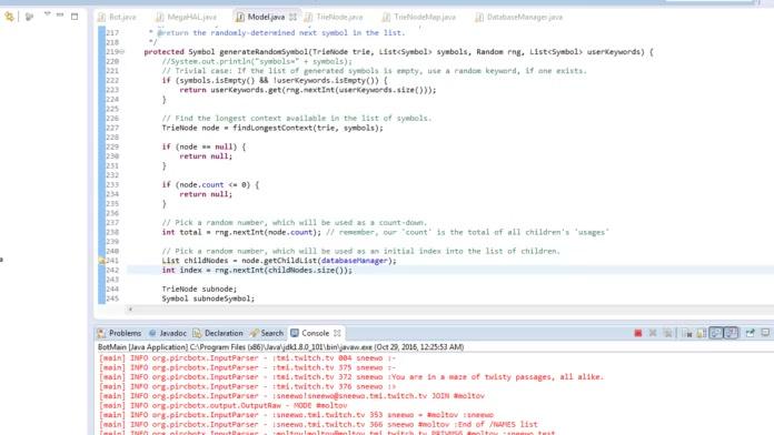 MegaHAL Bot (Sneewo) Development! #programming BIMO FOR IOS