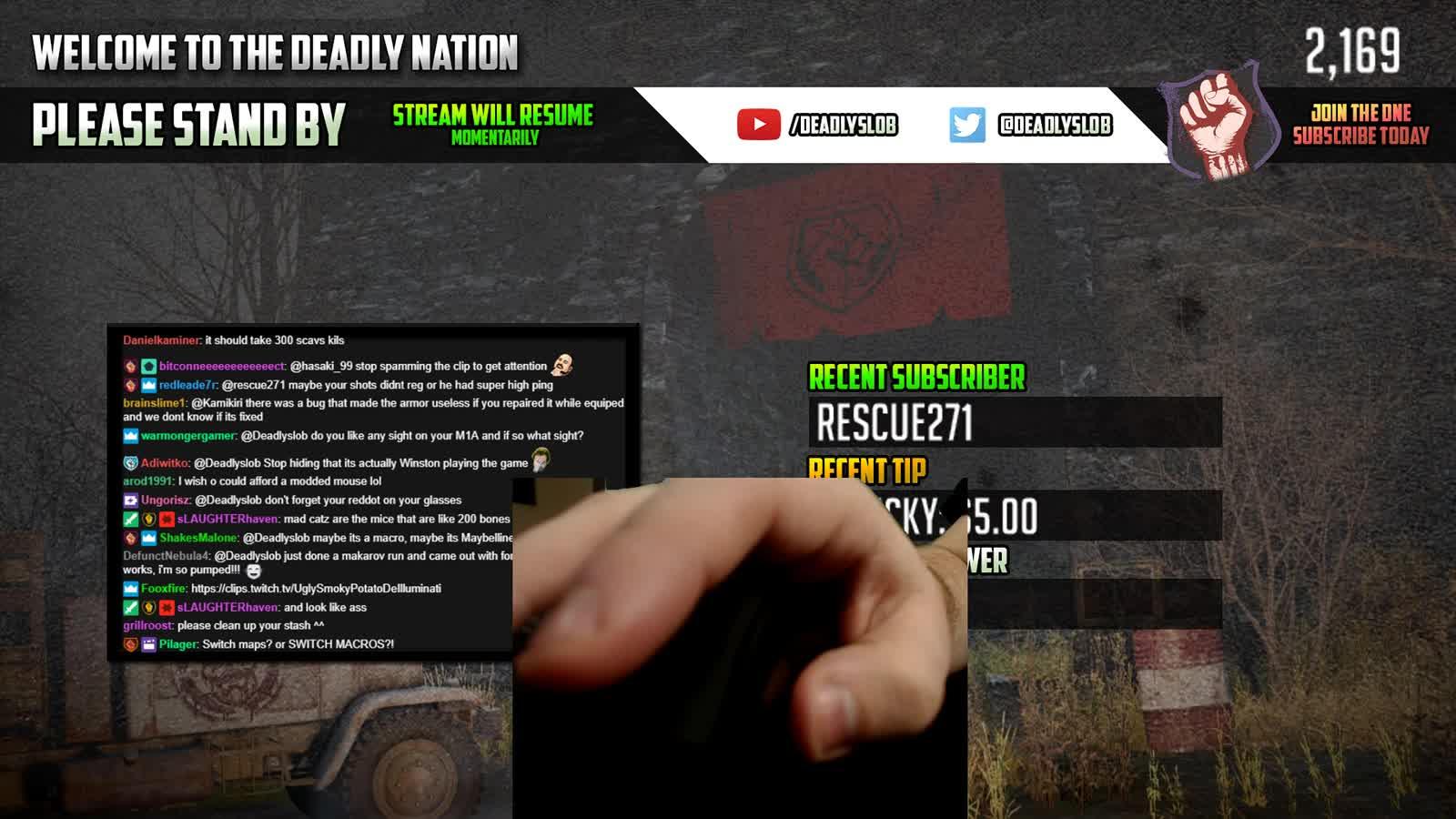 DeadlySlob Macroing CONFIRMED : EscapefromTarkov