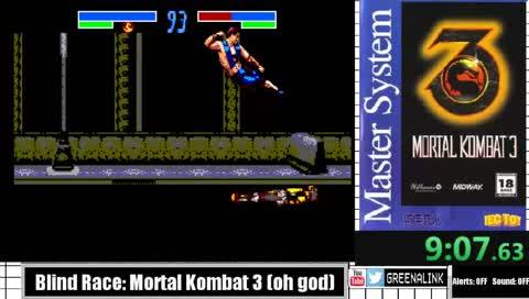 Master Monday Blind Race: Mortal Kombat 3