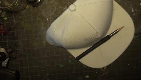 IPaintCreatures - https://www.instagram.com/ipaintcreatures - Custom Liquid Acrylic Hat -Time Lapse