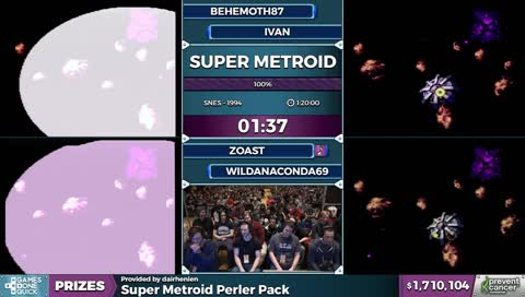 AGDQ 2017 benefitting the Prevent Cancer Foundation - Super Metroid