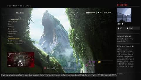Uncharted 4 MP - Subs/Regs Official Twitch Tee - goo.gl/XD6u1B