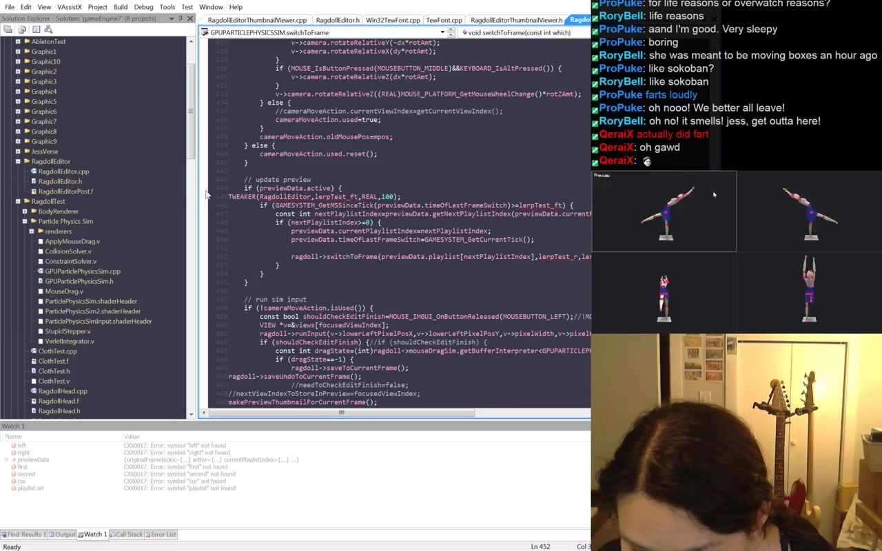 Making Ragdoll Editor (C++, OpenGL, shaders) #programming