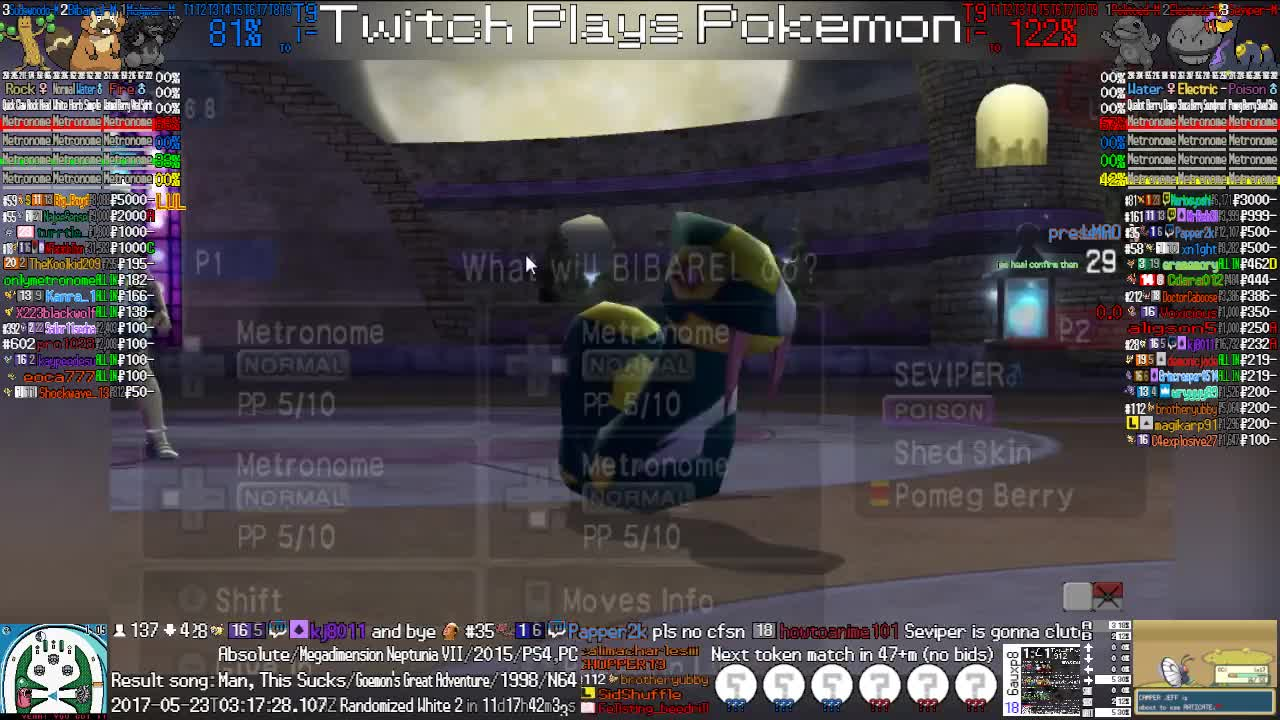 Perfectly timed noisemaker by Mariogamer3! : twitchplayspokemon