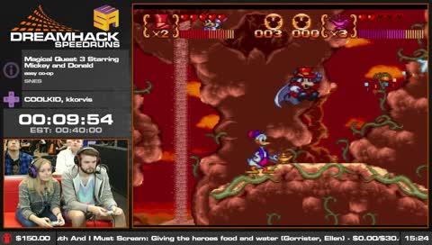 DreamHackSpeedrun's Top Magical Quest 3 Starring Mickey and