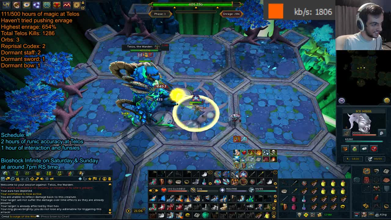 Worst PvMer EU Attempt to Kill Telos with an Unstable Net
