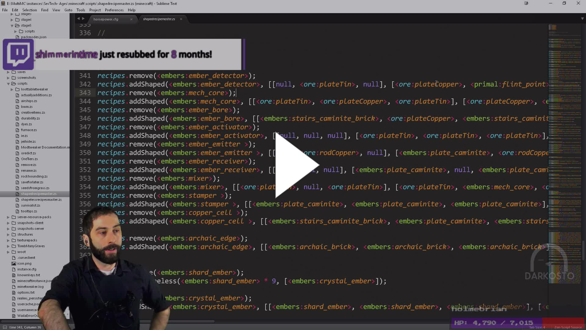 Modpack Development! SevTech Day 42! - Twitch
