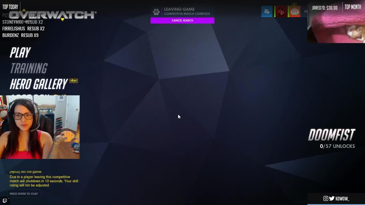 Match and chat shutdown