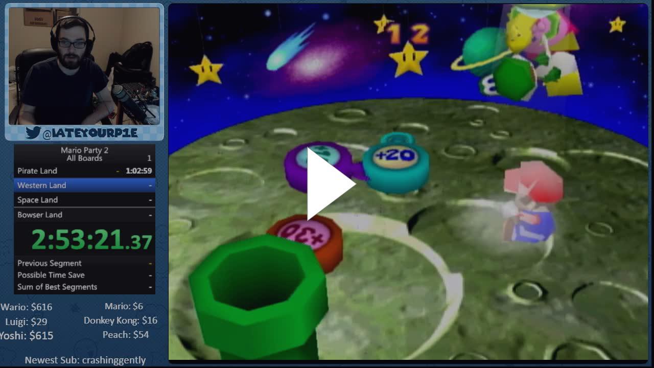 Waifuwars !MPWeekend   Mario Party 2 Race w/ Spikevegeta - Twitch