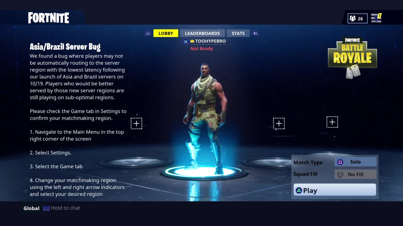 Fortnite New Servers