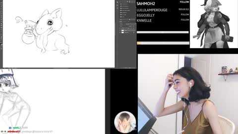 Dual art stream with Allenerie - another game/animation industry friend
