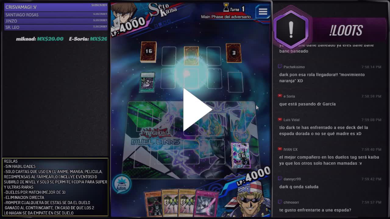 Cuarto Torneo - Legendarios como en Anime - Twitch