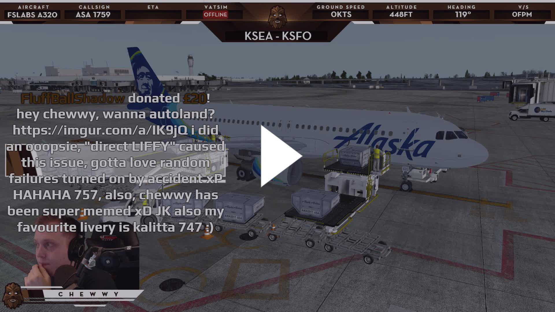 P3D v4 1] ✈ KSEA - KSFO ✈   Alaska A320 = Kreygasm - Twitch