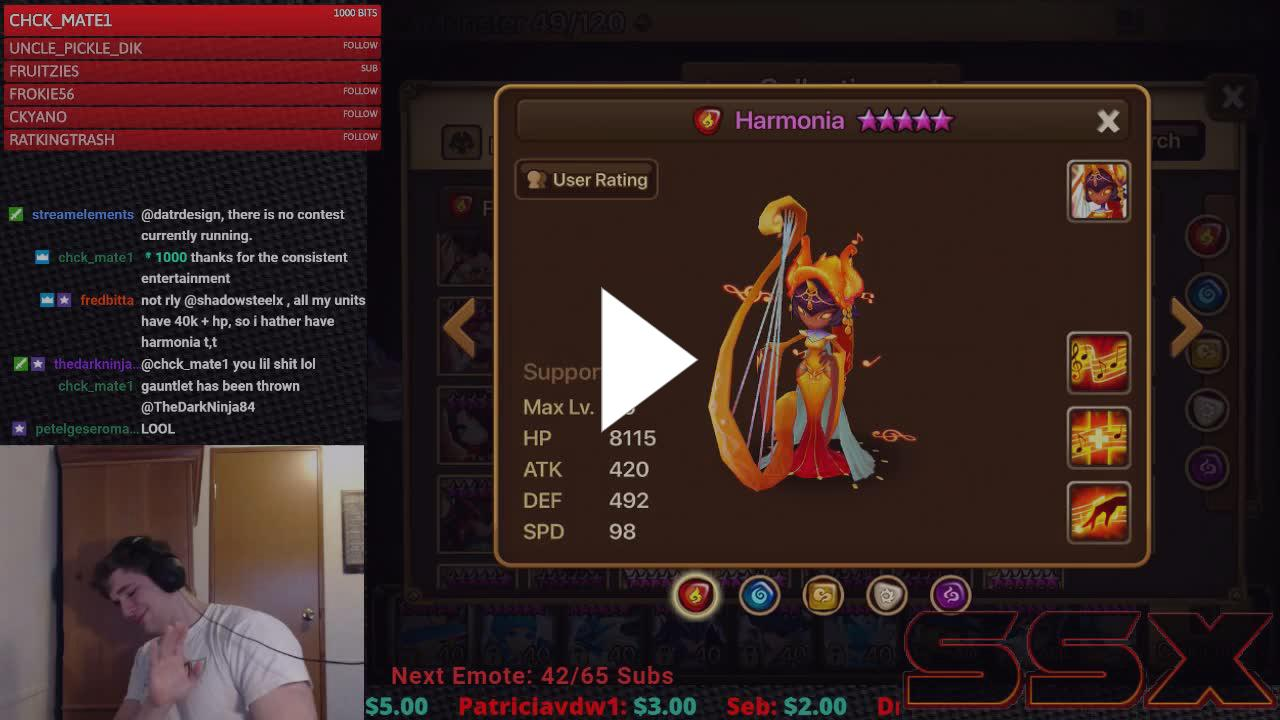 RTA For Viewers and Subs! Harmonia vs Triana - Twitch
