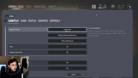 settings 04/15/2018 • Beaulo Playing Tom Clancy's Rainbow Six: Siege •  SNIPACLIP