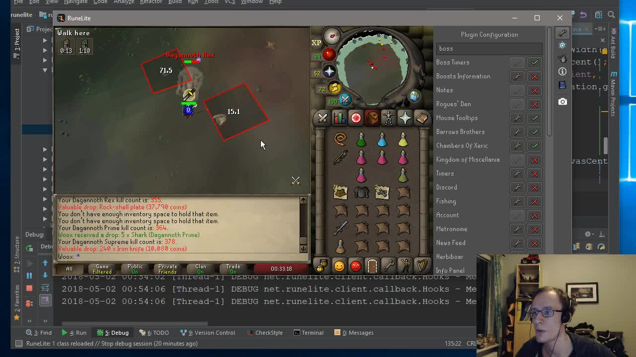 Woox creates a nutty mob spawn timer plugin for RuneLite live on