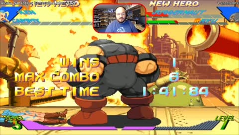 Playing X-Men vs. Street Fighter with Twitch subs!