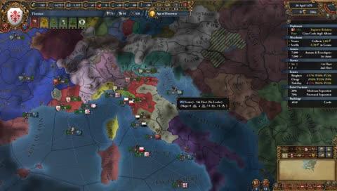 Florence: Testing the Vassalize Byzantium Opener