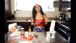 Making Pizza from Scratch - Cooking with Wonder Woman - Whats your favorite topping?