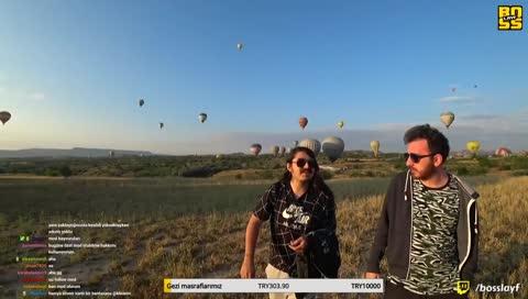 Kapadokya balondan gündoğumu / Cappadocia balloon tour