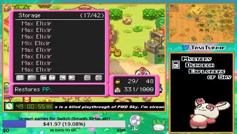 PMD: Explorers of Sky blind playthrough (✿☯‿☯✿) !shirt • TaviTurnip Playing  Pokémon Mystery Dungeon: Explorers of Sky • SNIPACLIP