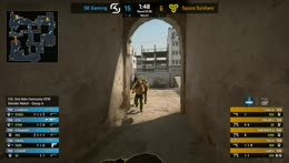 RERUN: SK vs. Space Soldiers [Dust2] Map 2 - Group A Decider Match - ESL One Belo Horizonte 2018