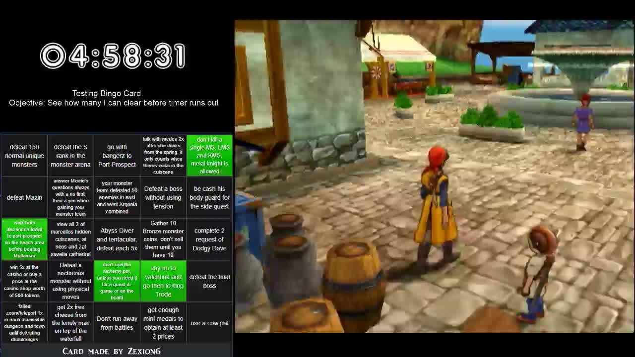 CreativeEly - DQ8 Bingo RTA (PS2) - Twitch