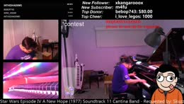 Symphonic live learnt looped music by ear in the aussie night