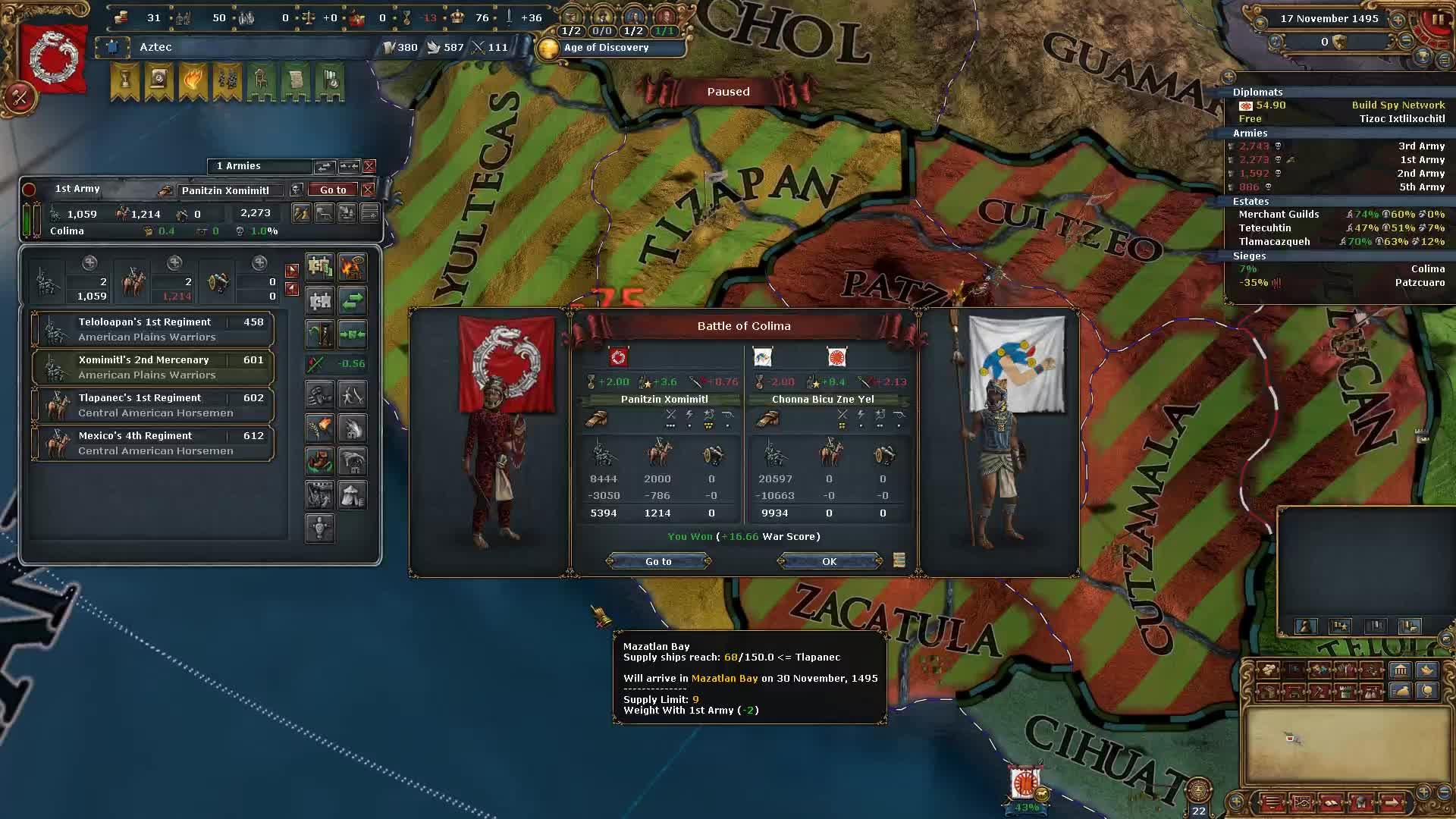 Europa Universalis 4 Aztec Achievements