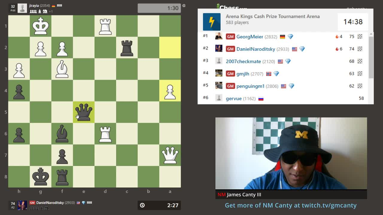Chess - Arena Kings with host NM James Canty III #arenakings - Twitch