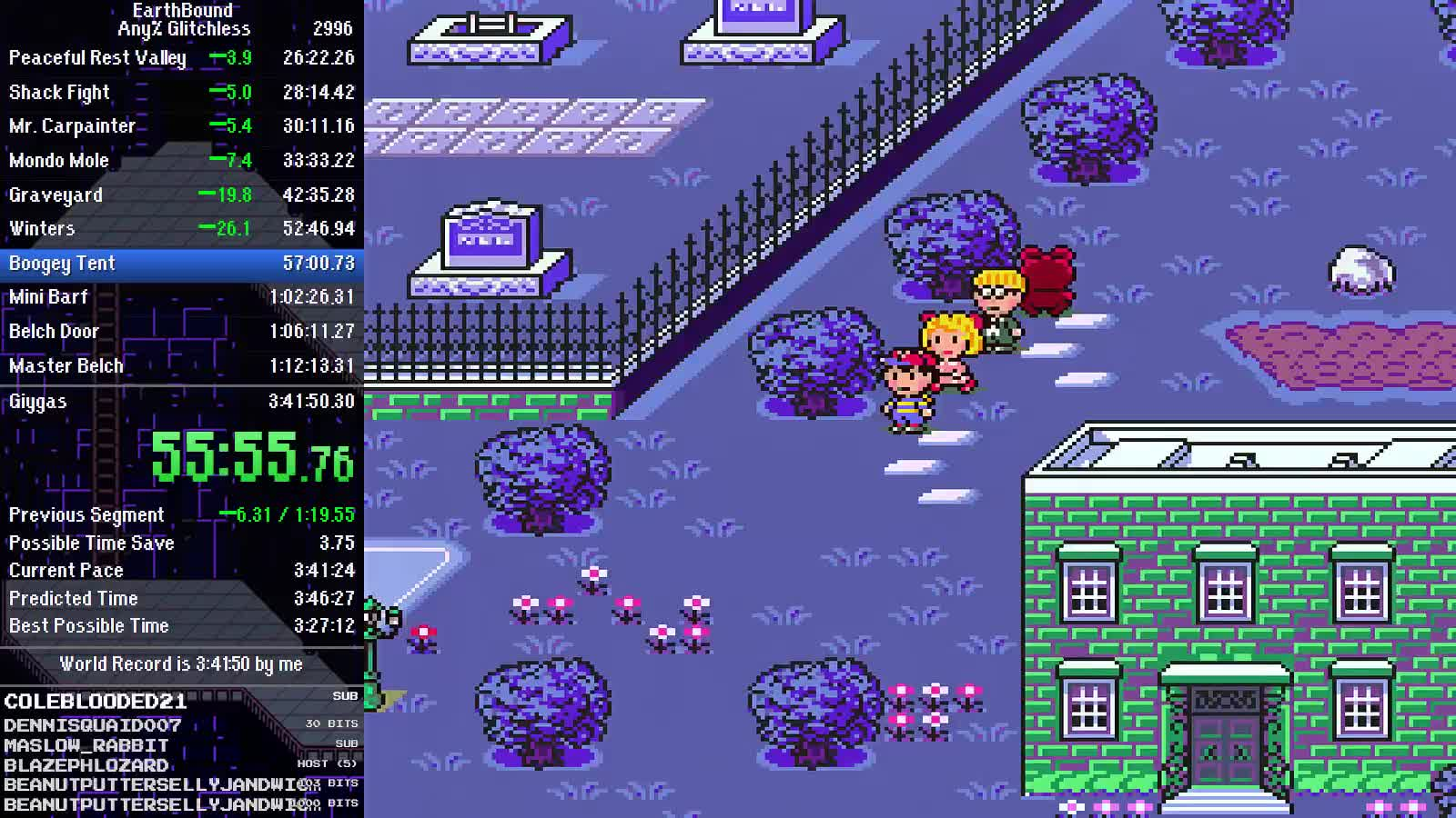 ceriam - EarthBound Any% Glitchless Speedrun WR Attempts