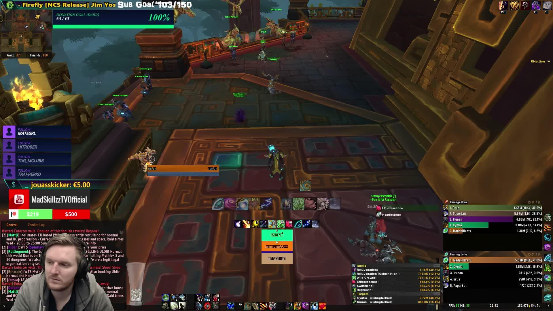 MadSkillzzTV - BfA Resto druid M+ !main !UI videos OUT - Twitch