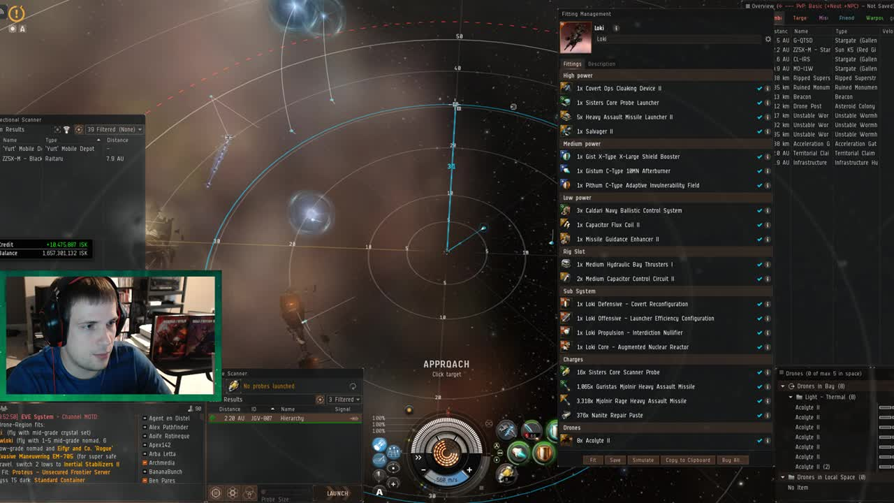 CCP - PvE Loki in Dronelands with Nobutadas - Twitch