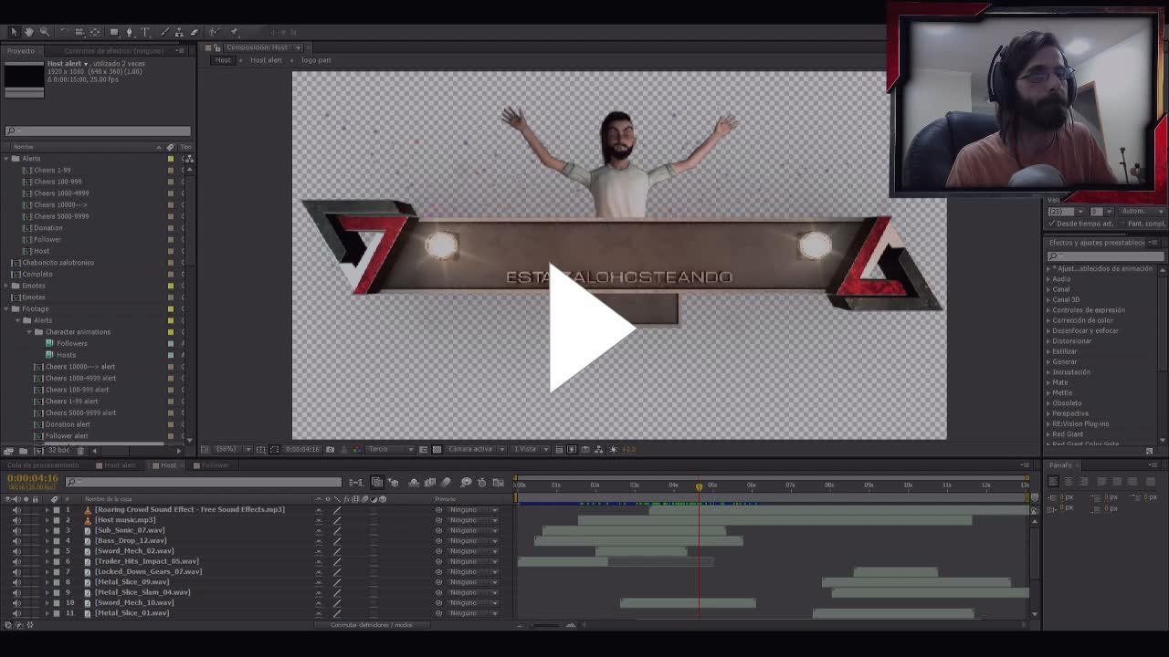 Zalotron - Alertas con personaje animado - 3D Max - Twitch