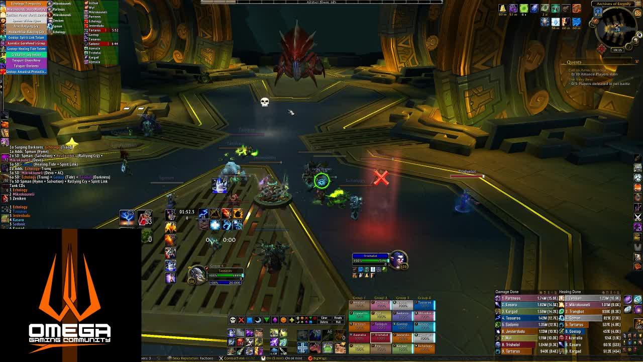 tassaros - OMEGA Gaming - Uldir mythic - Twitch
