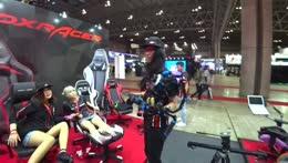 Girl falls off DXRacer chair on Jake's stream