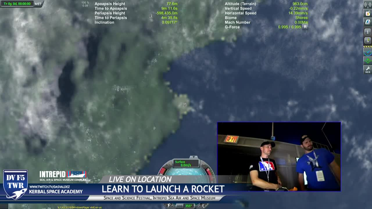 Dasvaldez Learn To Launch A Rocket In Ksp Live From Intrepid
