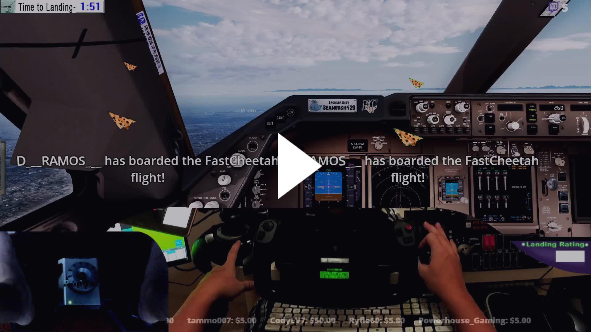 FastCheetah702 - P3DV4 3 PMDG 747-8 KDEN-KLAS - Twitch