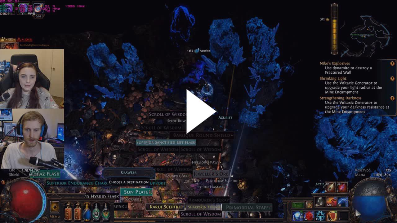 Delve SC] Arc and Freezing Pulse Totem - Twitch