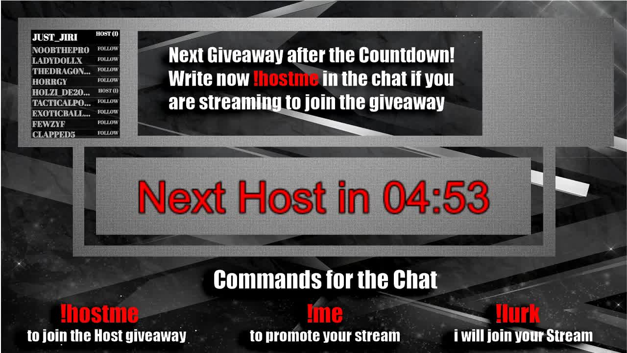 paytv50 - AutoHosting wirte !hostme to join the Giveaway! or !me to