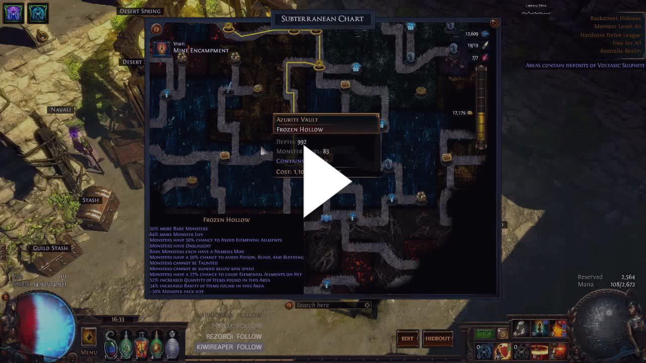 DirtyDan79 - [DHC] Solo Delve 975+ Going for 1000 - Twitch