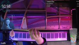 Pianist plays piano until the timer reaches 0, or his arms fall off.