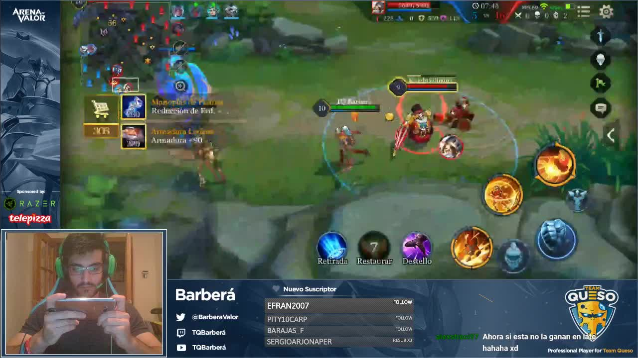 TQBarbera - Barberities Playing Arena of Valor for Team