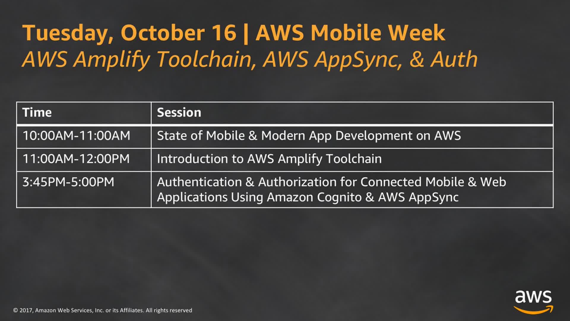 AWS - Introduction to AWS Amplify Toolchain - Twitch